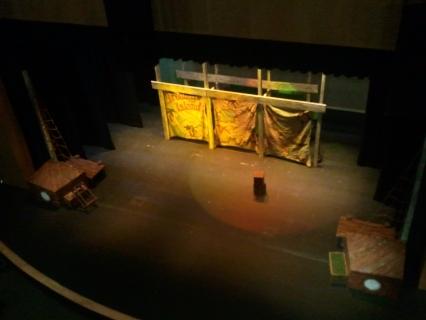 Gracie Theatre catwalk view.