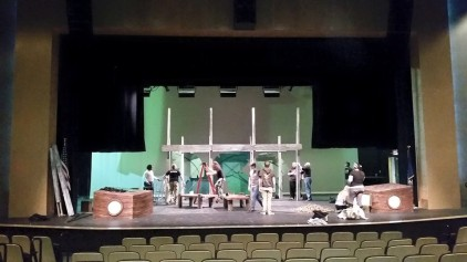 Load-in with fellow NESCOM students and faculty.